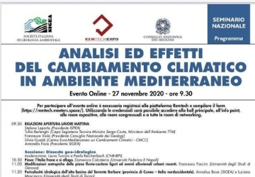 Webinar sul cambiamento climatico in ambiente Mediterraneo